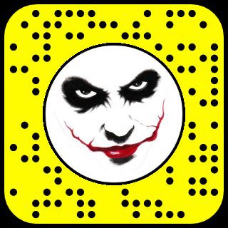 Filtres snapchat Le joker Batman