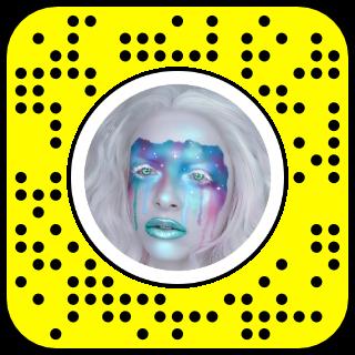 Filtre snap maquillage futuriste