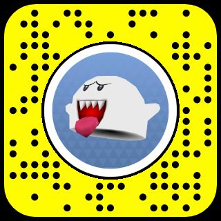 filtre snap mario chapeau fantome boo