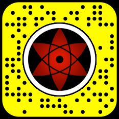 Filtre snap naruto : sharingan sasuke