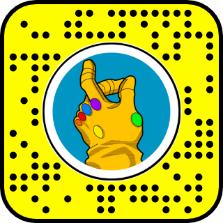 Filtre snapchat Avengers infinity wars
