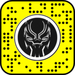 Filtre snapchat black panther