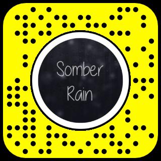 Filtre snapchat effet pluie