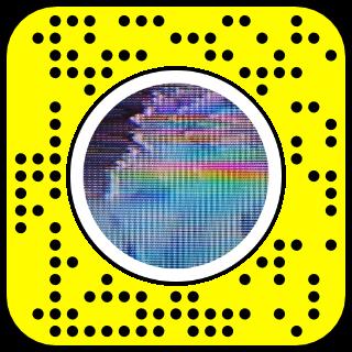 Filtre snapchat effet retro vhs