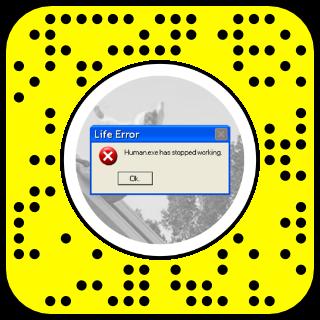 Filtre snapchat erreur windows