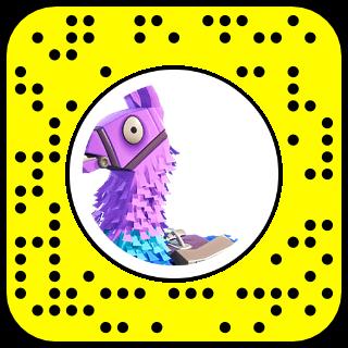 filtre snapchat fortnite lama
