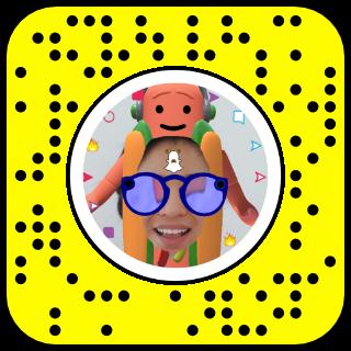 Filtre snapchat hot dog lunette
