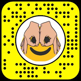 Filtre snapchat masque main