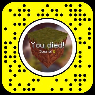 Filtre snapchat Minecraft