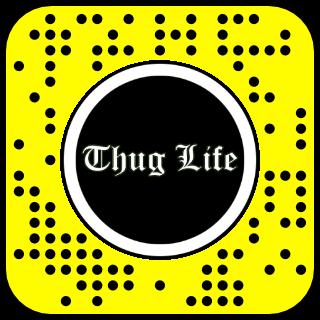 Filtre snapchat Thug life