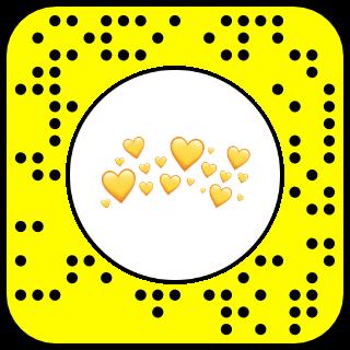 filtre snap coeur dore