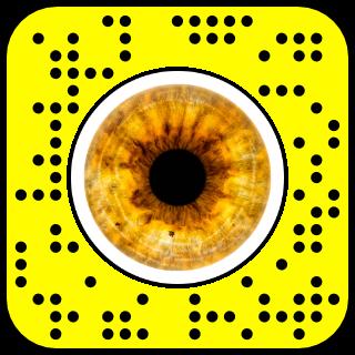 filtre snapchat yeux ambres
