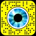 Filtre snapchat yeux bleus