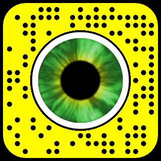 filtre snapchat yeux verts