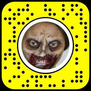 filtre snapchat zombie