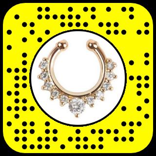 filtre snapchat piercing nez